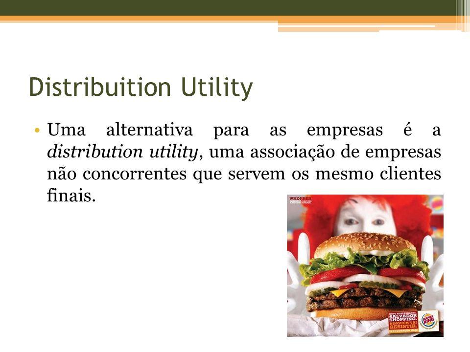 Distribuition Utility Uma alternativa para as empresas é a distribution utility, uma associação de empresas não concorrentes que servem os mesmo clientes finais.