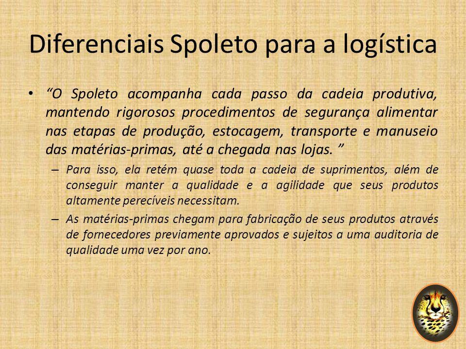 O Spoleto acompanha cada passo da cadeia produtiva, mantendo rigorosos procedimentos de segurança alimentar nas etapas de produção, estocagem, transpo