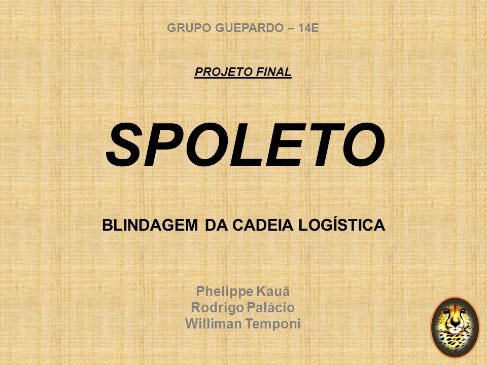 GRUPO GUEPARDO – 14E PROJETO FINAL SPOLETO BLINDAGEM DA CADEIA LOGÍSTICA Phelippe Kauã Rodrigo Palácio Williman Temponi