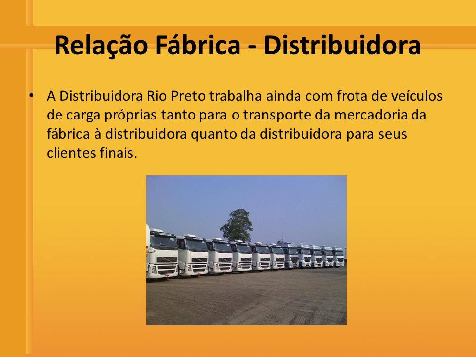 Distribuidora de Bebidas Rio Preto Relação Fábrica - Distribuidora A Distribuidora Rio Preto trabalha ainda com frota de veículos de carga próprias ta