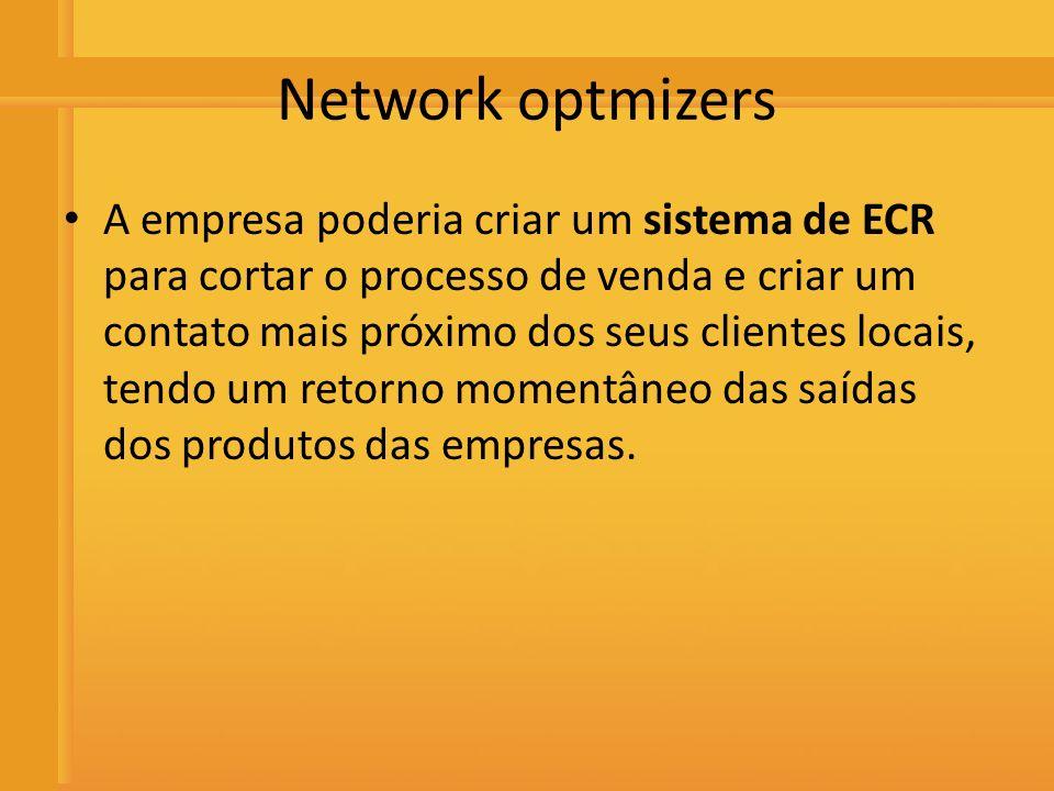 Distribuidora de Bebidas Rio Preto Network optmizers A empresa poderia criar um sistema de ECR para cortar o processo de venda e criar um contato mais
