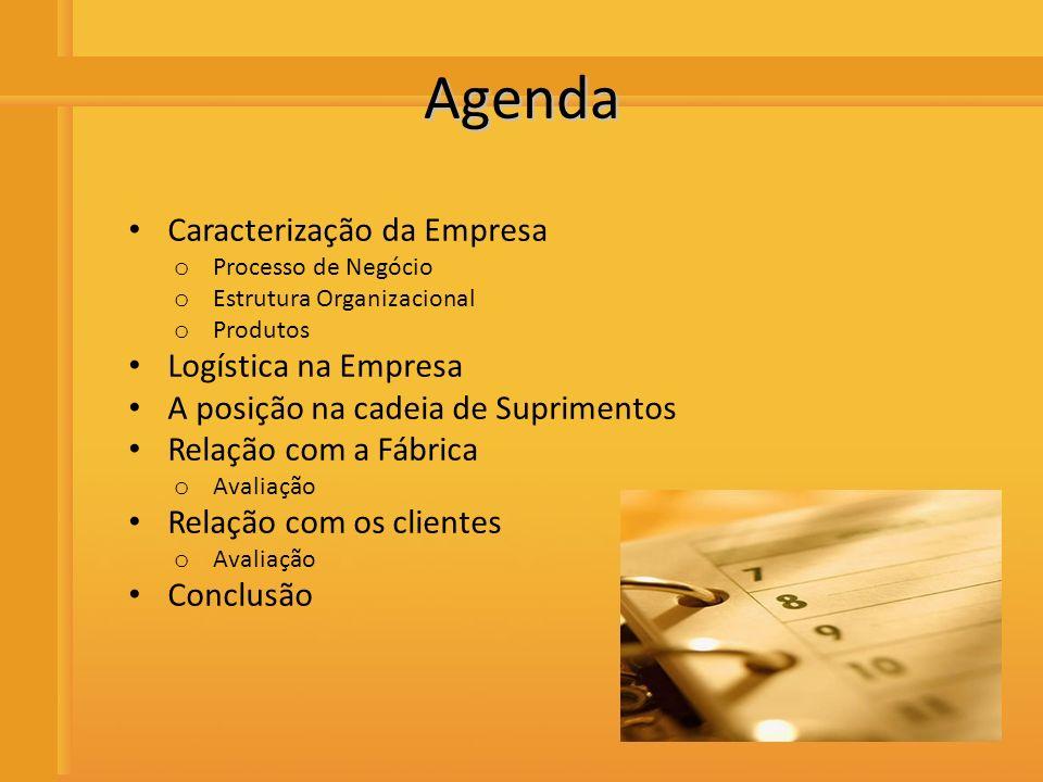 Distribuidora de Bebidas Rio Preto Agenda Caracterização da Empresa o Processo de Negócio o Estrutura Organizacional o Produtos Logística na Empresa A