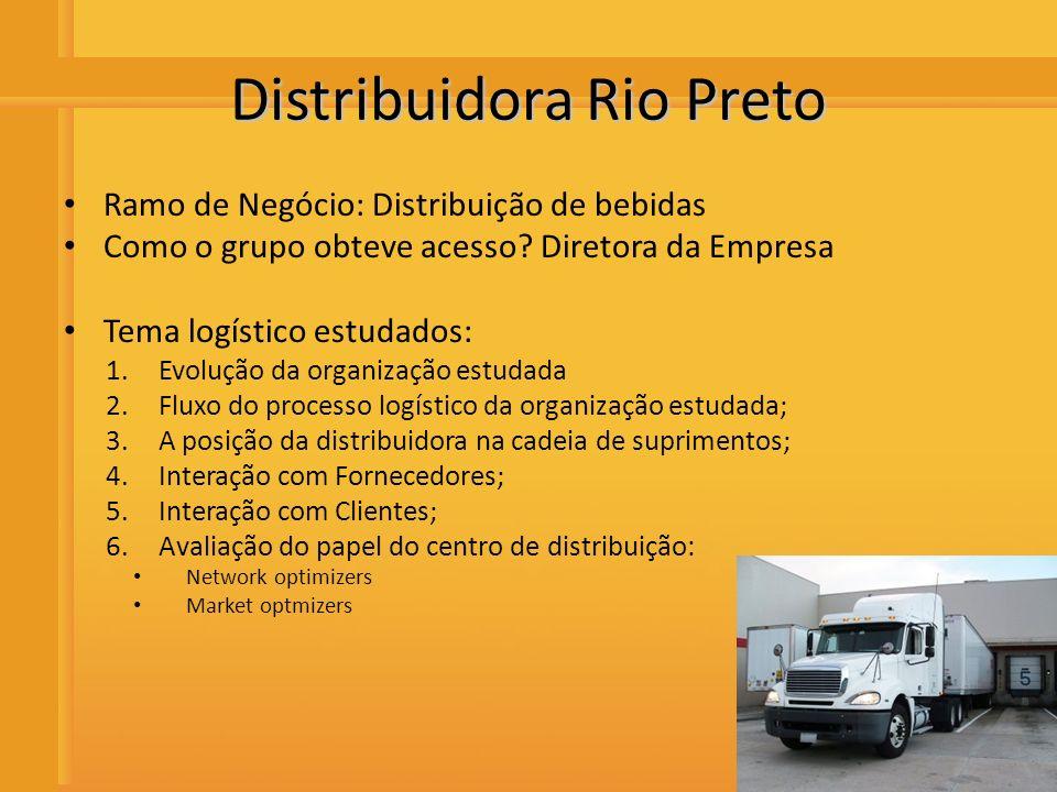 Distribuidora de Bebidas Rio Preto Network optmizers Poderia melhorar o sistema de entrega dos produtos reduzindo a devolução de garrafas bicadas, por meio de um maior controle e de um transporte mais cuidadoso e diferenciado.