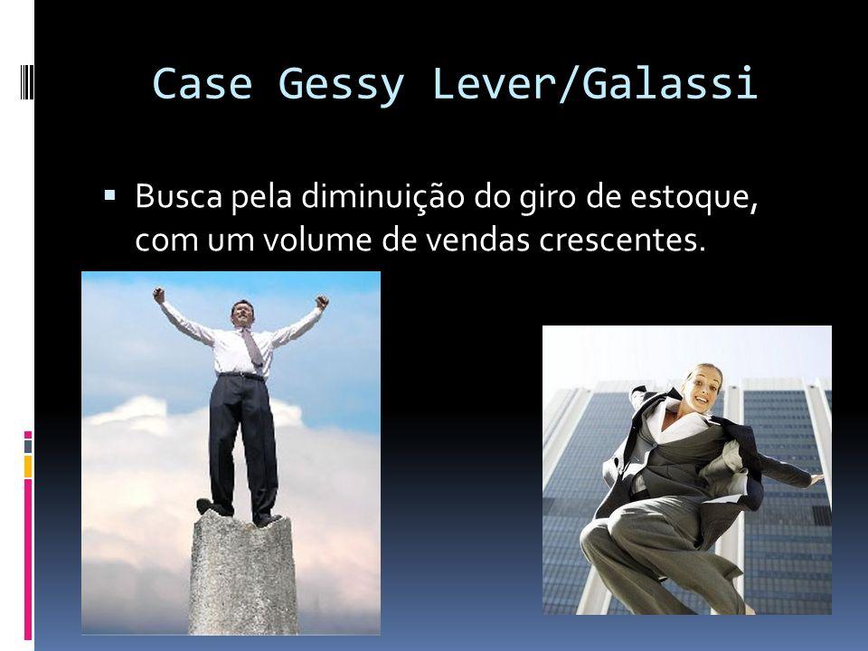 Case Gessy Lever/Galassi Busca pela diminuição do giro de estoque, com um volume de vendas crescentes.