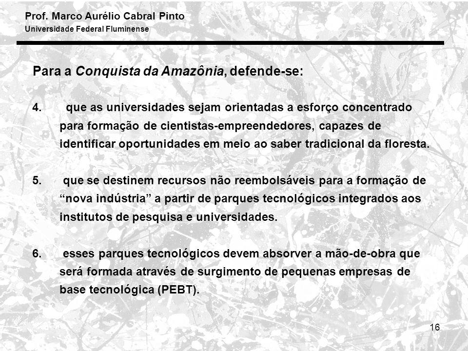 Prof. Marco Aurélio Cabral Pinto Universidade Federal Fluminense 16 4.