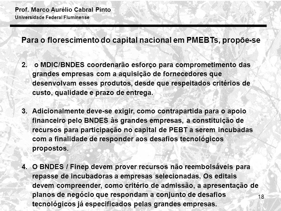 Prof. Marco Aurélio Cabral Pinto Universidade Federal Fluminense 18 2.