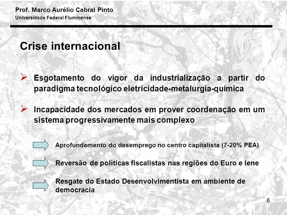 Prof.Marco Aurélio Cabral Pinto Universidade Federal Fluminense 7 A resposta brasileira...