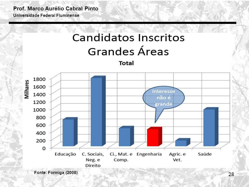 Prof. Marco Aurélio Cabral Pinto Universidade Federal Fluminense 28 Fonte: Formiga (2008)