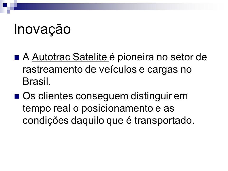 Inovação A Autotrac Satelite é pioneira no setor de rastreamento de veículos e cargas no Brasil.