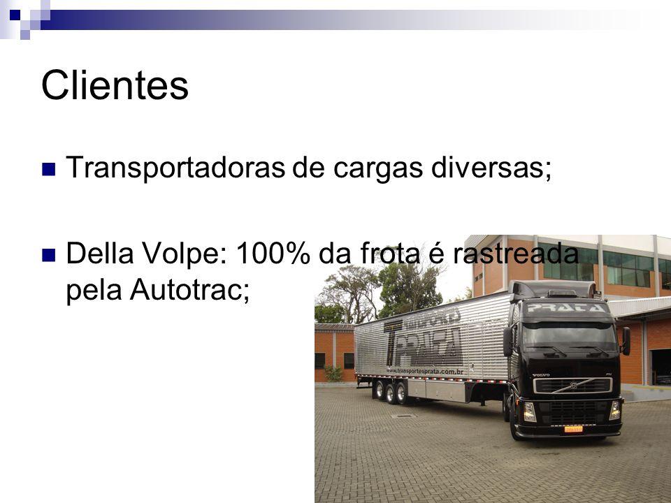 Clientes Transportadoras de cargas diversas; Della Volpe: 100% da frota é rastreada pela Autotrac;