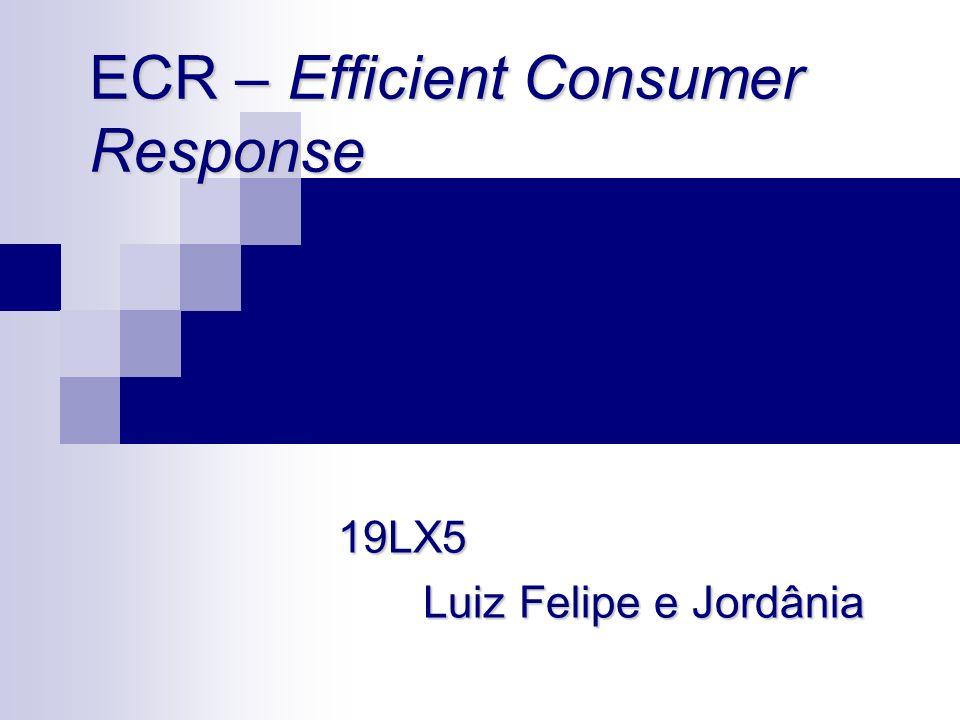 Conceito de ECR ECR é uma iniciativa em que fabricantes, varejo, atacado e demais facilitadores trabalham juntos para minimizar custos com uma cadeia logística integrada, trazendo maior valor ao consumidor e aumentando os lucros.