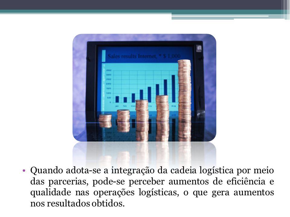 Quando adota-se a integração da cadeia logística por meio das parcerias, pode-se perceber aumentos de eficiência e qualidade nas operações logísticas,