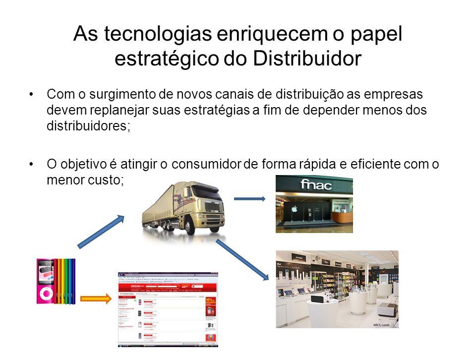 As tecnologias enriquecem o papel estratégico do Distribuidor Com o surgimento de novos canais de distribuição as empresas devem replanejar suas estra