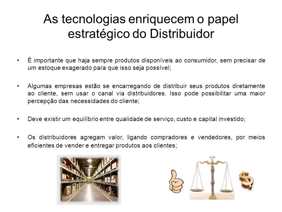 As tecnologias enriquecem o papel estratégico do Distribuidor É importante que haja sempre produtos disponíveis ao consumidor, sem precisar de um esto