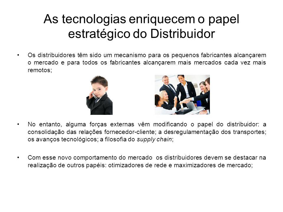 As tecnologias enriquecem o papel estratégico do Distribuidor Os distribuidores têm sido um mecanismo para os pequenos fabricantes alcançarem o mercad