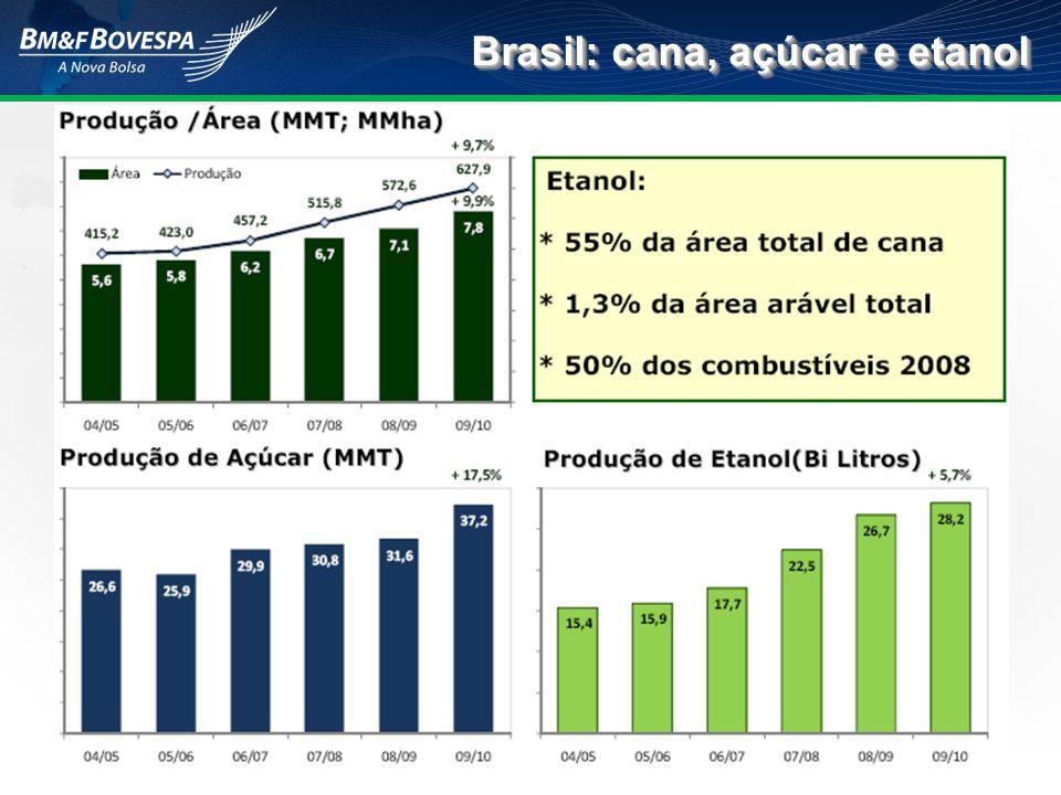 Fonte: MME/BEN (2007) – Elaboração: GVAgro Matriz energética: Mundo e Brasil