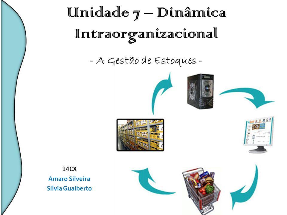 Unidade 7 – Dinâmica Intraorganizacional - A Gestão de Estoques - 14CX Amaro Silveira Sílvia Gualberto