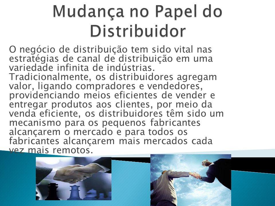 O negócio de distribuição tem sido vital nas estratégias de canal de distribuição em uma variedade infinita de indústrias.