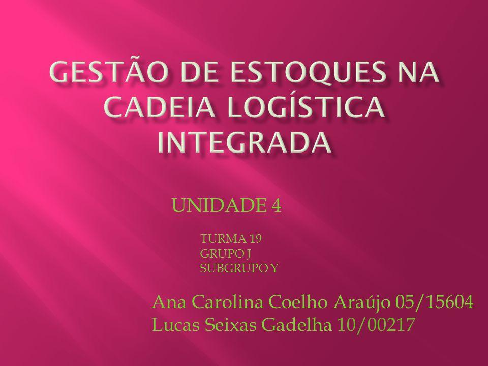 UNIDADE 4 TURMA 19 GRUPO J SUBGRUPO Y Ana Carolina Coelho Araújo 05/15604 Lucas Seixas Gadelha 10/00217