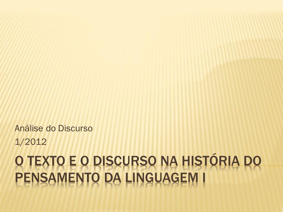 Análise do Discurso 1/2012