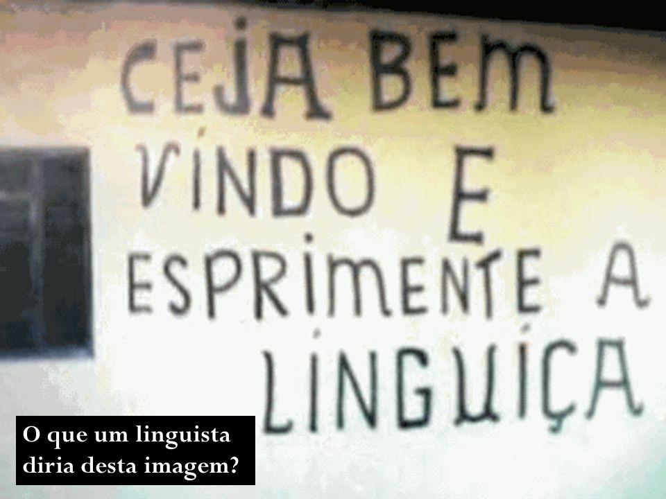 O que um linguista diria desta imagem?