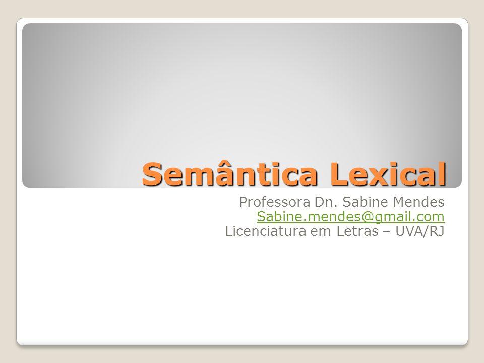 Semântica Lexical Professora Dn.