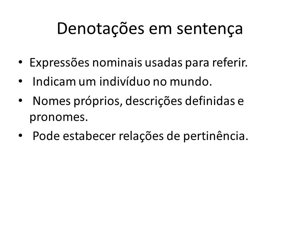 Relações de pertinência (9) O maior escritor brasileiro é inteligente.