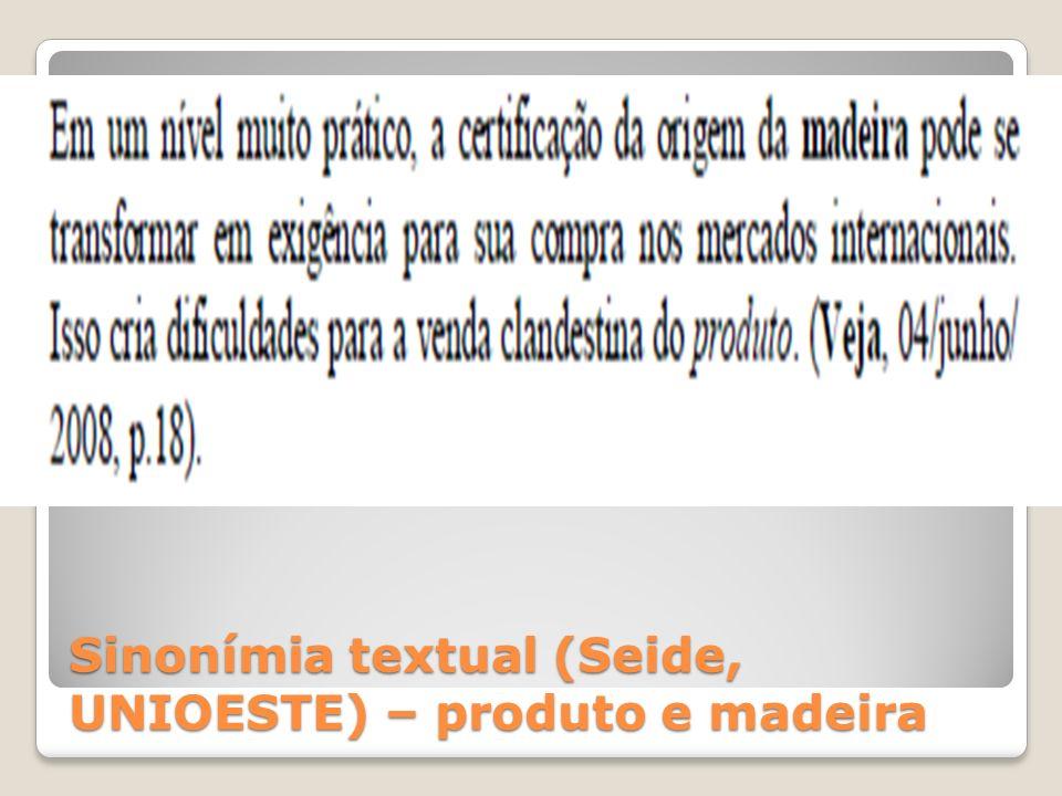 Sinonímia textual (Seide, UNIOESTE)