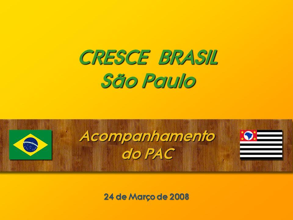 CRESCE BRASIL São Paulo Acompanhamento do PAC 24 de Março de 2008