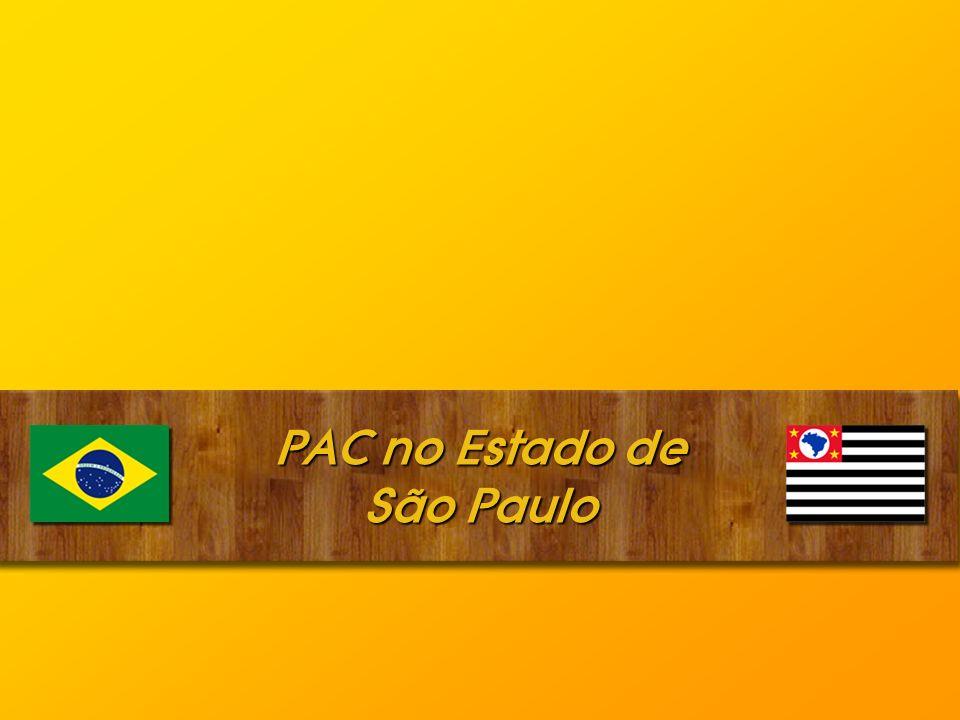 PAC no Estado de São Paulo