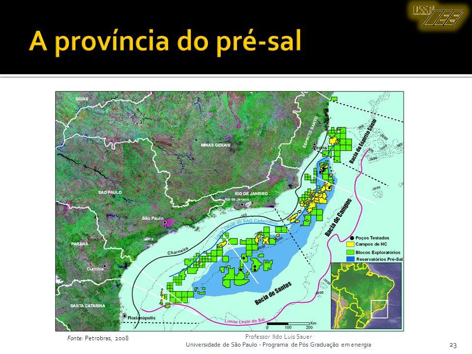 Professor Ildo Luís Sauer Universidade de São Paulo - Programa de Pós Graduação em energia 23 Fonte: Petrobras, 2008 23 Professor Ildo Luís Sauer Univ