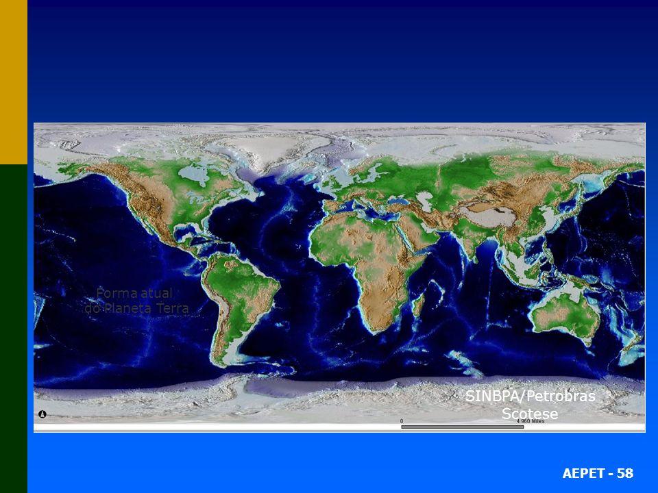 AEPET - 58 164 Milhões de anos atrás 152 Milhões de anos atrás 130 Milhões de anos atrás 122 Milhões de anos atrás 108 Milhões de anos atrás 79 Milhõe