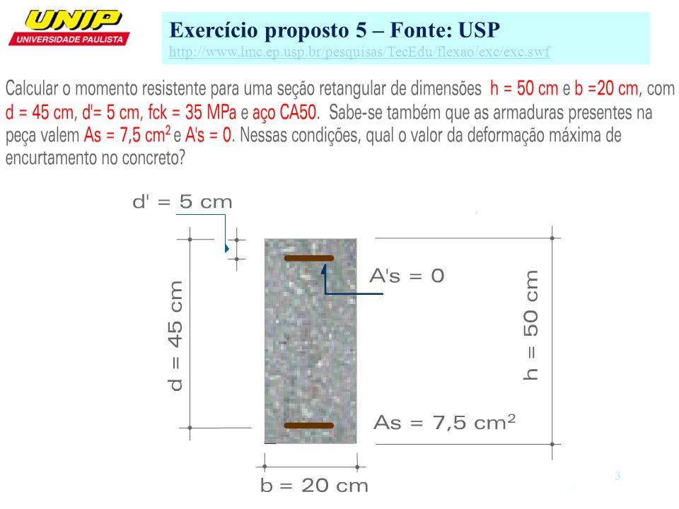 3 Exercício proposto 5 – Fonte: USP http://www.lmc.ep.usp.br/pesquisas/TecEdu/flexao/exc/exc.swf