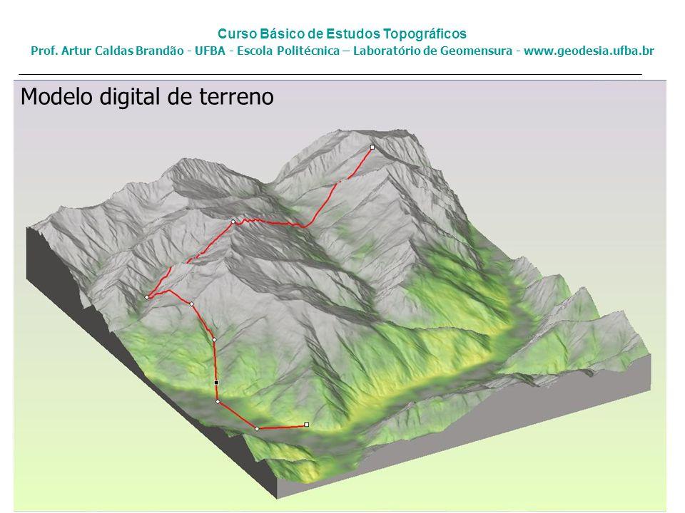 Modelo digital de terreno Curso Básico de Estudos Topográficos Prof. Artur Caldas Brandão - UFBA - Escola Politécnica – Laboratório de Geomensura - ww