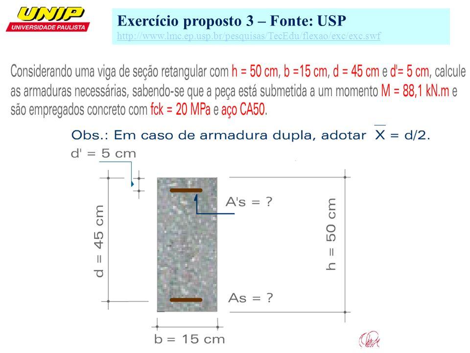 3 Exercício proposto 3 – Fonte: USP http://www.lmc.ep.usp.br/pesquisas/TecEdu/flexao/exc/exc.swf
