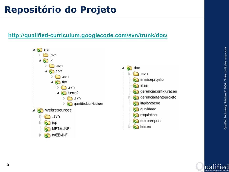 5 Repositório do Projeto http://qualified-curriculum.googlecode.com/svn/trunk/doc/
