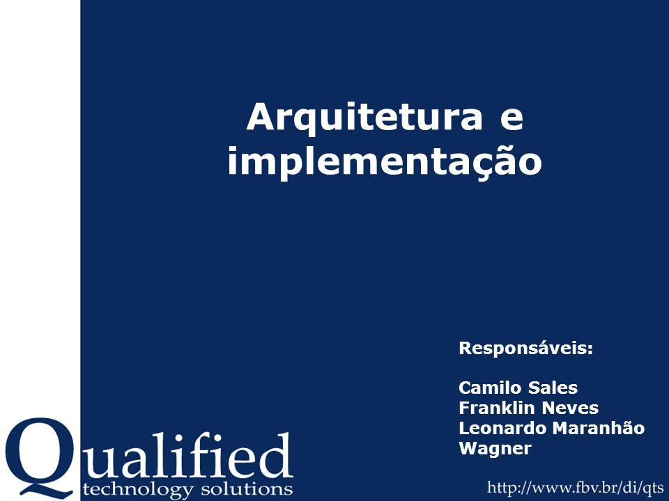 Arquitetura e implementação Responsáveis: Camilo Sales Franklin Neves Leonardo Maranhão Wagner
