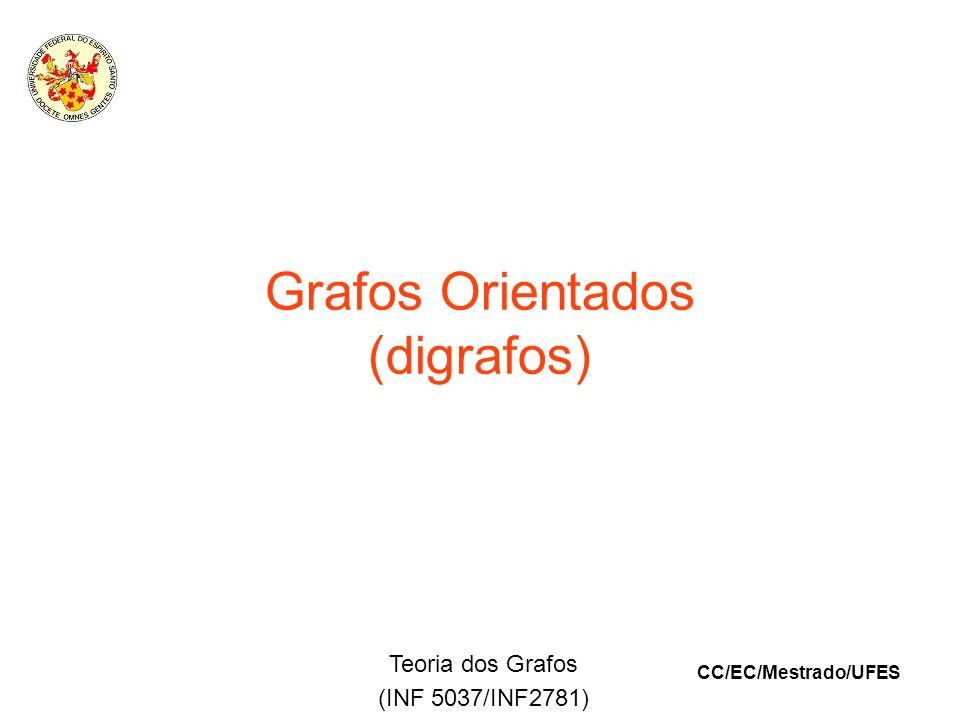 CC/EC/Mestrado/UFES Teoria dos Grafos (INF 5037/INF2781) Grafos Orientados (digrafos)