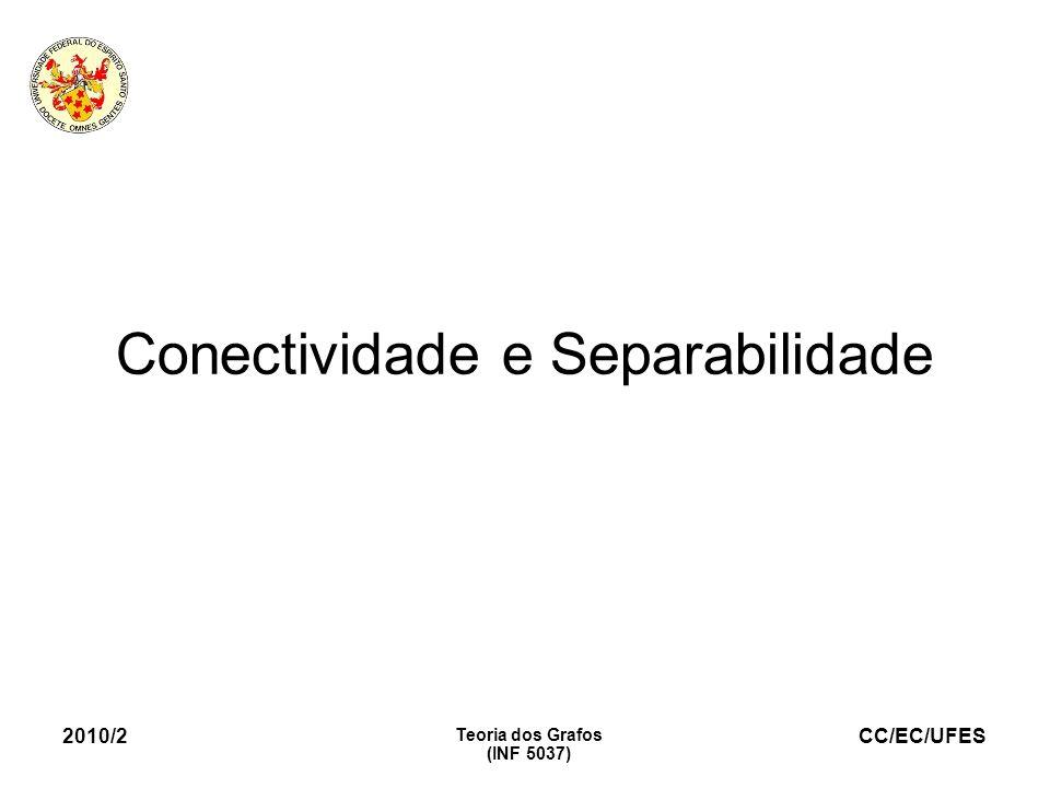 CC/EC/UFES 2010/2 Teoria dos Grafos (INF 5037) Conectividade e Separabilidade