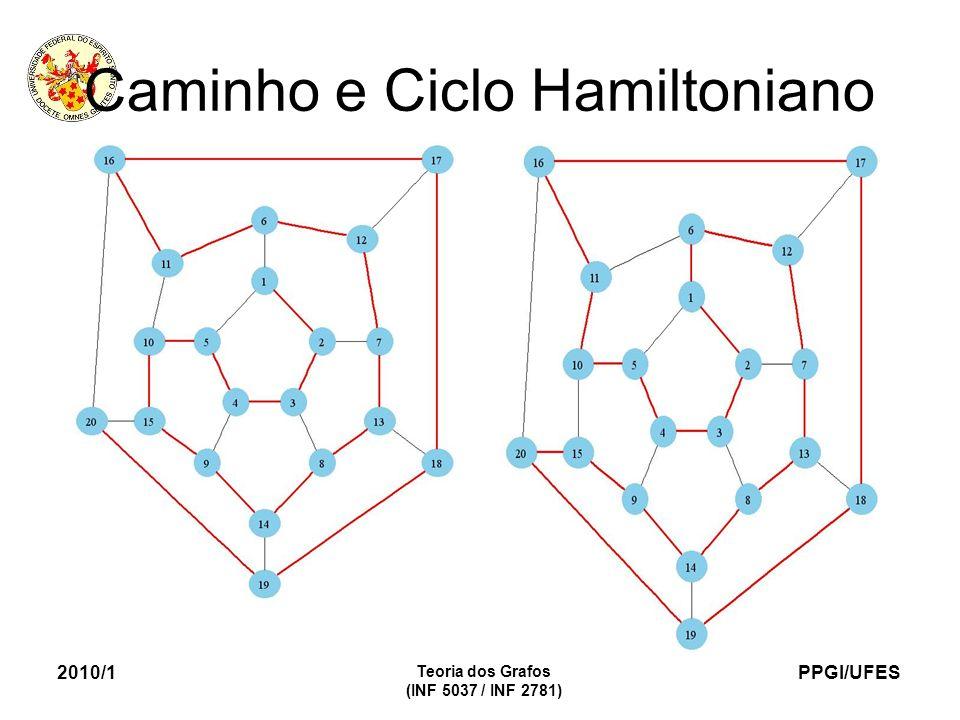 PPGI/UFES 2010/1 Teoria dos Grafos (INF 5037 / INF 2781) Caminho e Ciclo Hamiltoniano