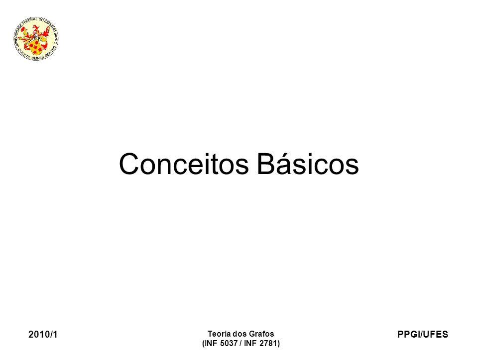 PPGI/UFES 2010/1 Teoria dos Grafos (INF 5037 / INF 2781) Conceitos Básicos