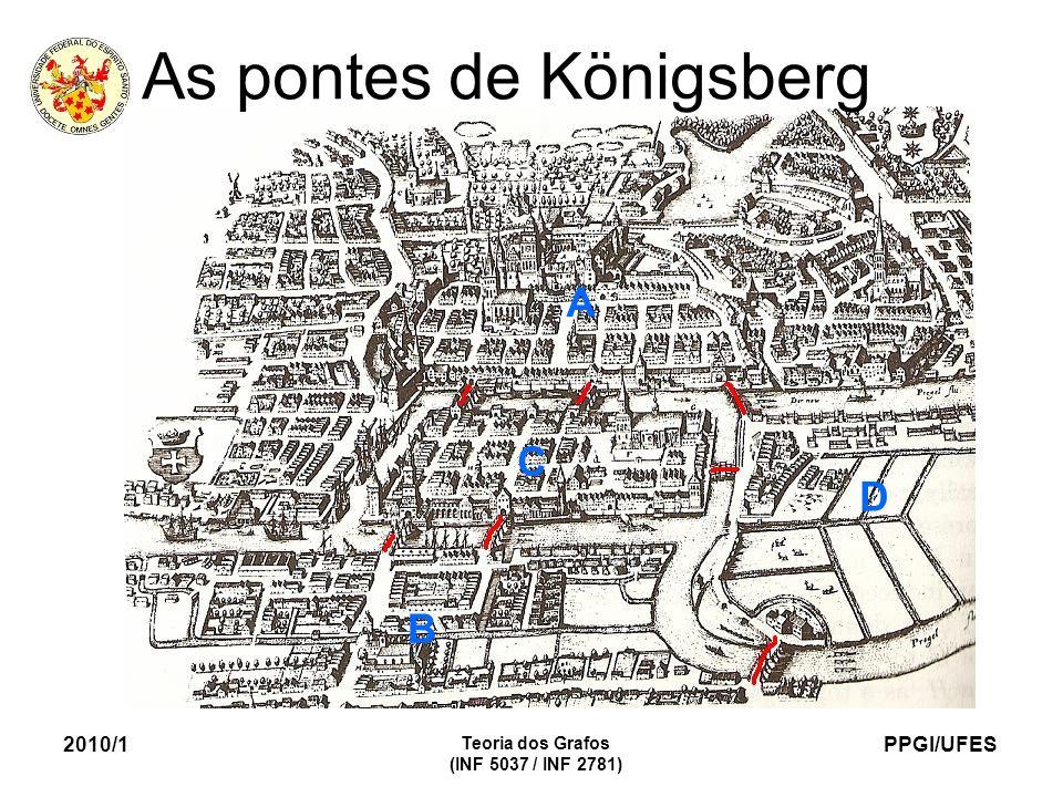 PPGI/UFES 2010/1 Teoria dos Grafos (INF 5037 / INF 2781) As pontes de Königsberg A B C D