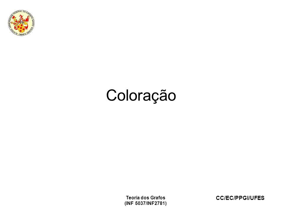 CC/EC/PPGI/UFES Teoria dos Grafos (INF 5037/INF2781) Coloração