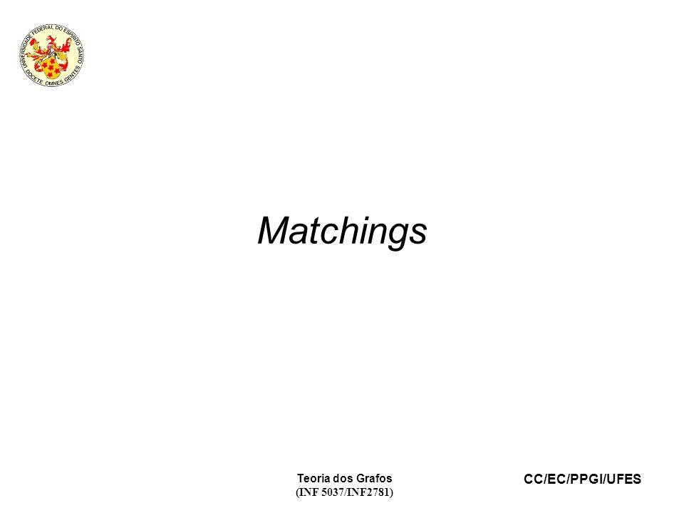 CC/EC/PPGI/UFES Teoria dos Grafos (INF 5037/INF2781) Matchings