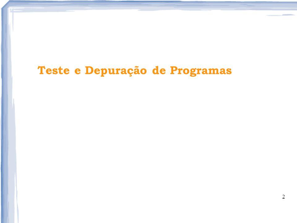 2 Teste e Depuração de Programas