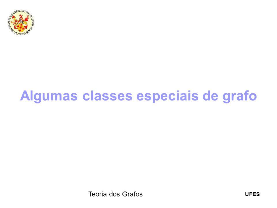 UFES Teoria dos Grafos Algumas classes especiais de grafo