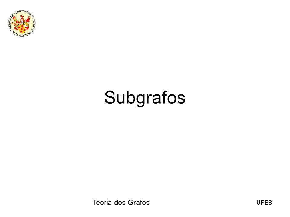 UFES Teoria dos Grafos Subgrafos