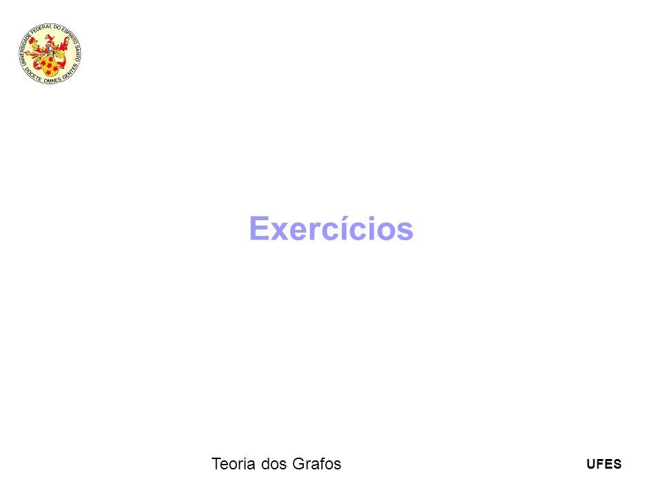 UFES Teoria dos Grafos Exercícios