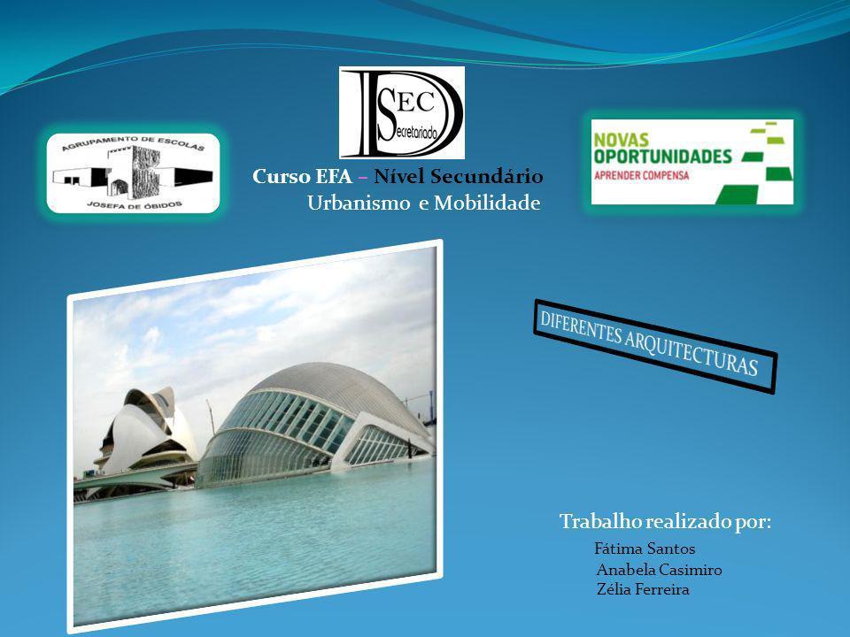 Curso EFA – Nível Secundário Trabalho realizado por: Fátima Santos Anabela Casimiro Zélia Ferreira Urbanismo e Mobilidade