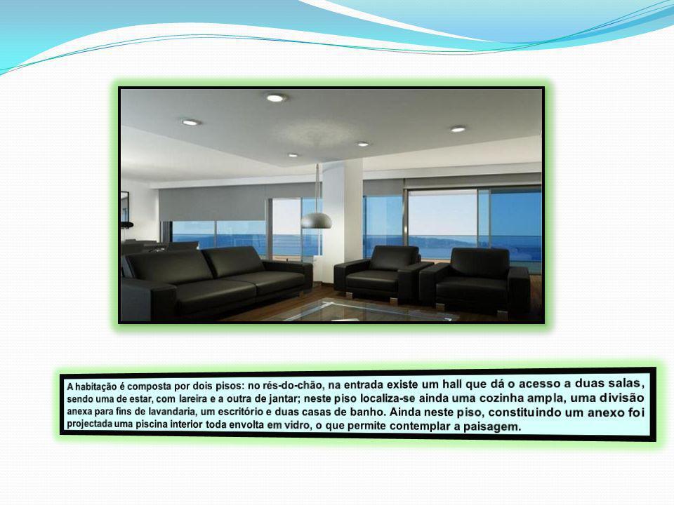 O 2º piso da habitação foi contextualizado para uma zona íntima.